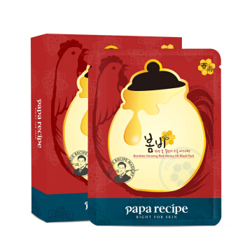 春雨(papa recipe)红参蜂蜜精油补水面膜  10片/盒 (韩国进口 滋润保湿 平衡水油 敏感肌肤可用) *4件