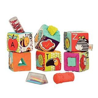 B.toys 比乐 BX1661Z ABC字母幻彩软积木 6个月