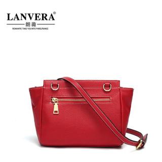LANVERA 女士 欧美时尚小ck 斜挎包 翅膀包 L2088 红色