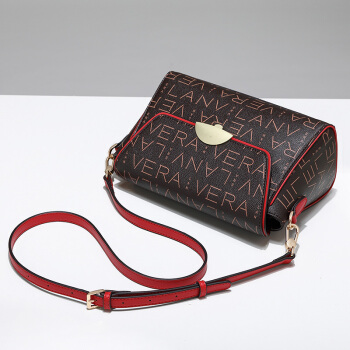 LANVERA 时尚优雅系列 女士 欧美复古女包 单肩包 小方包 L6082-1 红色