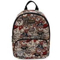 DANNY BEAR 丹尼熊 缤纷熊系列 女 卡通背包双肩包 DBJD6115026-171 迷彩红配黑色