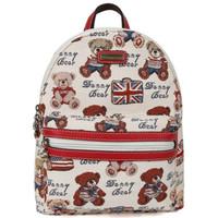 DANNY BEAR 丹尼熊 英美熊系列 女 双肩包 休闲运动包 卡通 DBWB165073-179 白色配红色