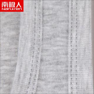 南极人(Nanjiren)NSJA0660 纯棉男士背心螺纹运动背心打底衫黑白灰3件装 XL