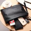美洲野牛男士手包牛皮信封包大容量手拿包N8027-5B黑色