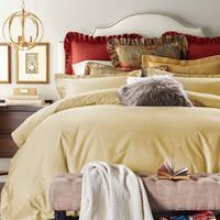 MIDO HOUSE 铭都家纺 140支匹马棉纯色贡缎四件套  适合200*230被子 +凑单品