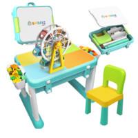 费乐 多功能积木桌( 大颗粒桌+1椅+送大号摩天轮)