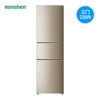 Ronshen 容声 BCD-220WD16NP 风冷无霜 三门冰箱 220L