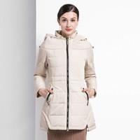 Hodo 红豆冬季女士羽绒服修身纯色甜美HD-E656