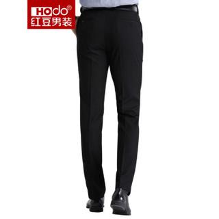 红豆 Hodo男装商务休闲男士正装西裤 黑色33