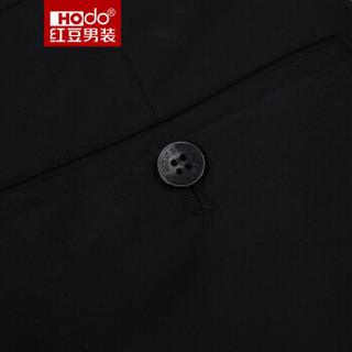红豆 Hodo男装商务休闲男士正装西裤 黑色32