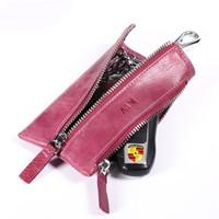 AIM 男女 时尚复古风多功能 钥匙包 16KB0011 紫色