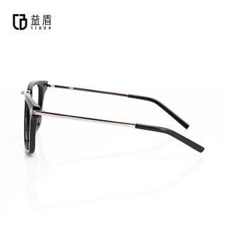 益盾(YIDUN)防辐射眼镜防蓝光眼镜电脑护目镜平光眼镜全框复古黑色