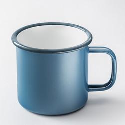 富光 怀旧经典搪瓷杯 非保温杯 文艺马克杯 多功能茶杯 蓝色460ML(DTC6001-460) *5件