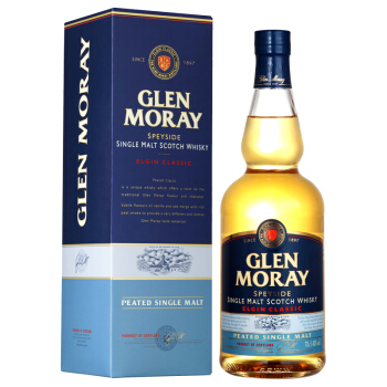 Glen Moray 格兰莫雷 单一麦芽威士忌 泥煤味 700ml+凑单品