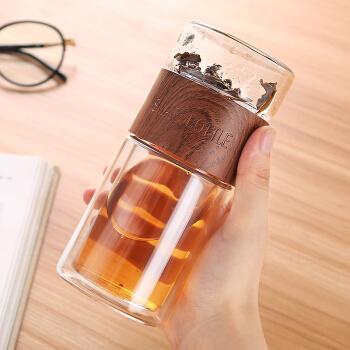 佳佰 JB180730 双层耐热玻璃杯 200ml