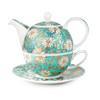 DUNOON丹侬 骨瓷茶具 一壶一杯一碟 (花色、500ml+250ml)