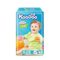 可哆(KooDoo)纸尿裤 银装干爽婴儿尿不湿 中号M码60片 *5件
