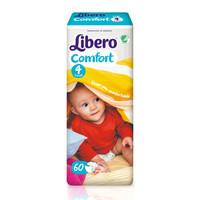 Libero 丽贝乐 欧洲原装进口 男女通用 婴幼儿纸尿裤M码60片 (6-11kg)