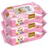 幸福未来 婴儿手口柔湿巾(80片*3)无香型 新生儿纸巾 儿童宝宝湿巾
