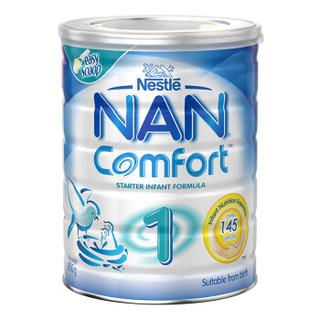 香港直邮 澳洲进口 雀巢(Nestle) NAN舒适能恩婴幼儿奶粉 1段(0-6月) 800g/罐