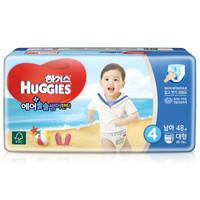 好奇(Huggies)成长裤 透气舒爽系列 男 L48片  *5件