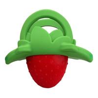 香蕉宝宝(Baby Banana)婴儿牙胶 婴儿玩具磨牙棒 安抚奶嘴咬咬乐 美国进口水果造型硅胶指套牙胶 草莓