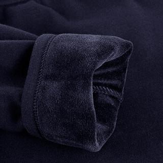 七匹狼保暖内衣加绒加厚套装冬季男士舒绒保暖套装中老年秋衣秋裤厚款99296黑色XL