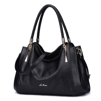 LAORENTOU 老人头 女士 牛皮百搭时尚 手提包 托特包 JD905286J0ZY83L1A 黑色