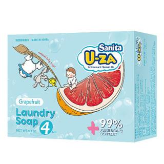U-ZA 柚子味婴幼儿洗衣皂 (176g、盒装、柚子、四联装*2)