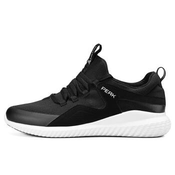 匹克(PEAK)男休闲鞋低帮魔弹舒适一脚蹬都市运动鞋 DE810411 黑色 40码