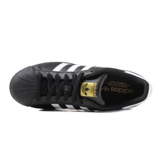 Adidas 三叶草 B27140 男女贝壳头经典鞋  (黑/白/金、44.5)