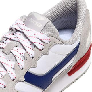 李宁 LI-NING AGCN359-2 运动时尚系列 男 经典休闲鞋 微晶灰/米白色 42码