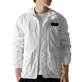 adidas 阿迪达斯 男款运动夹克 白色 DU2427