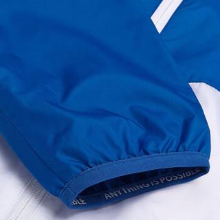 李宁 LI-NING AFDN187-1 训练系列男子运动风衣 正蓝色/标准白  3XL码