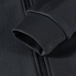 鸿星尔克 女开衫卫衣透气吸汗轻便运动女外套 52218314027 正黑 XL