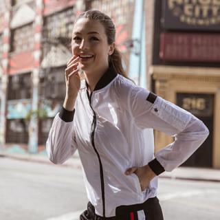 安踏(ANTA)16738646 女装 2017秋季新品运动外套 梭织防风夹克 纯净白 XL(女175)