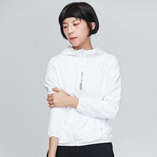 鸿星尔克 女运动上衣防风舒适轻便女外套 52218315017 正白 2XL