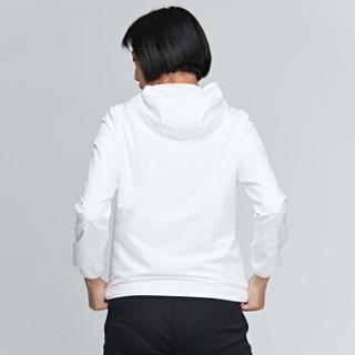 鸿星尔克 女运动上衣防风舒适轻便女外套 52218315017 正白 XL