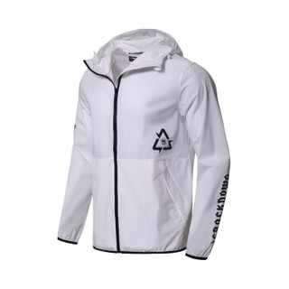 李宁 LI-NING AFDN147-1 篮球系列 男 运动风衣 标准白 S码