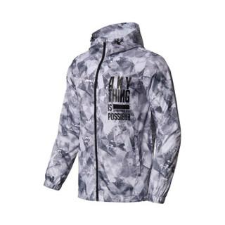 李宁 LI-NING AFDN173-3 运动时尚系列 男 运动风衣 标准白组合匹印 XXL码