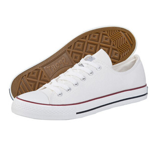 WARRIOR 回力 男女 低帮休闲鞋 帆布 车缝线 板鞋 WXY-391 白色、37