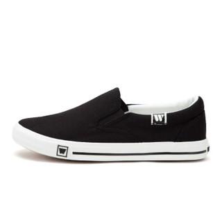WARRIOR 回力 男女 低帮休闲鞋 帆布 素面 老北京布鞋 WXY-903T 黑色、40
