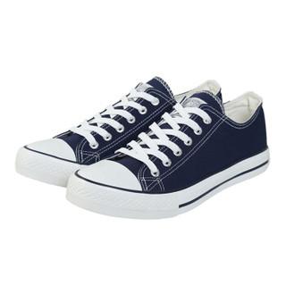 WARRIOR 回力 男女 低帮休闲鞋 帆布 车缝线 板鞋 WXY-391 深蓝、43