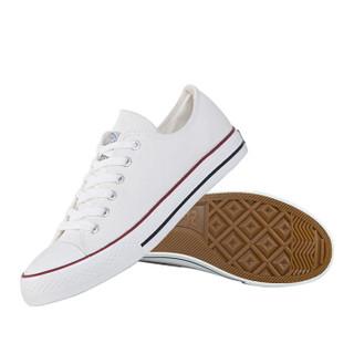 WARRIOR 回力 男女 低帮休闲鞋 帆布 车缝线 板鞋 WXY-391 白色43 白色、43