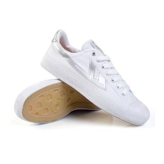 回力/Warrior 经典情侣款帆布鞋男女鞋运动鞋篮球鞋休闲鞋男女板鞋复古经典款爆款潮鞋明星同款 WB-1 灰白 39