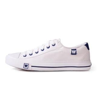 回力/warrior 回力经典帆布鞋男女低帮情侣小白鞋休闲鞋学生平底板开车鞋 WXY-709 白色 42