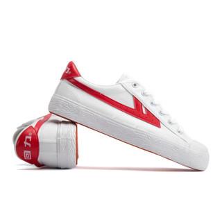 回力/Warrior 经典情侣款帆布鞋男女运动鞋男女板鞋复古潮鞋爆款潮鞋明星同款 WB-1K 红白 36