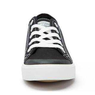 回力/Warrior 春夏新款情侣款帆布鞋学生平跟白色女鞋平底低帮休闲鞋子 WXY-805T/806T 黑色 36