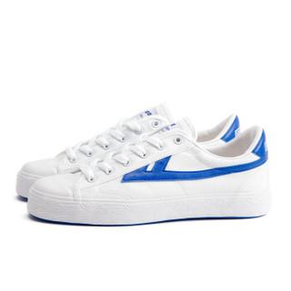 回力/Warrior 经典情侣款帆布鞋男女运动鞋男女板鞋复古潮鞋爆款潮鞋明星同款 WB-1K 蓝白 40