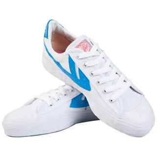 回力/Warrior 经典情侣款帆布鞋男女鞋运动鞋篮球鞋休闲鞋男女板鞋复古经典款爆款潮鞋明星同款 WB-1 蓝白 36